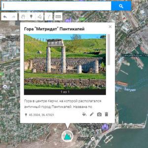 пример карты гугл